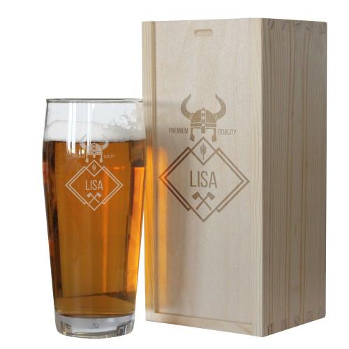 Verre à bière prénom Viking