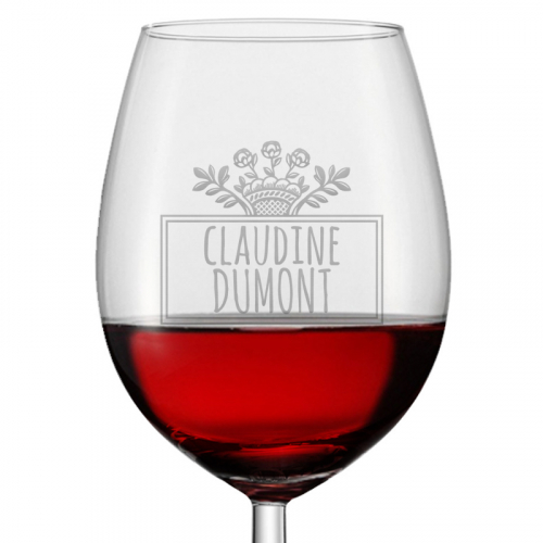 Verre à vin prénom
