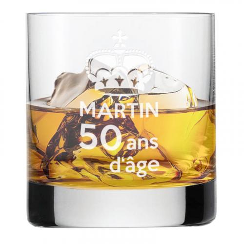 Verre à whisky anniversaire royal