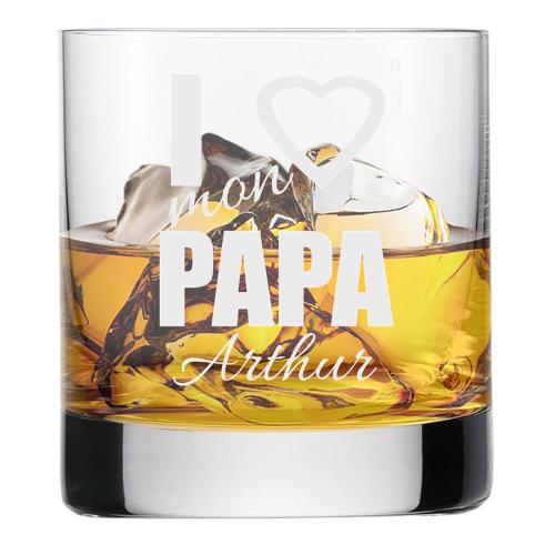 Verre à whisky papa gravé