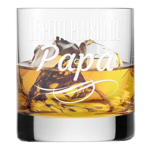 Verre à whisky le petit plaisir de papa