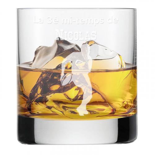 Verre à whisky du sportif gravé