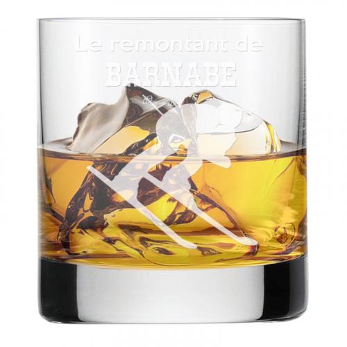 Verre à whisky du sportif ski
