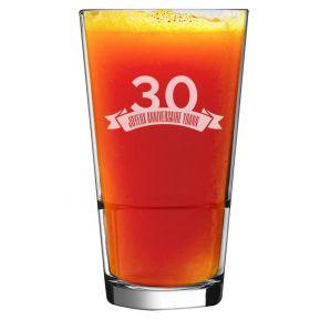 Verre à cocktail anniversaire gravé