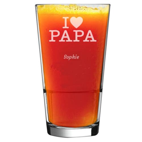 Verre à cocktail I love Papa