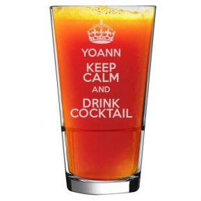 Verre à cocktail prénom gravé