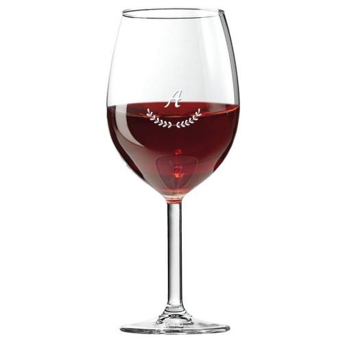 Verre à vin initiale palmes