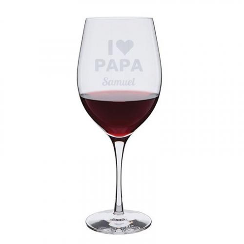 Verre à vin I love Papa