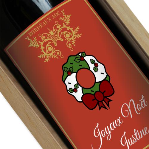 Vin de Noël personnalisé