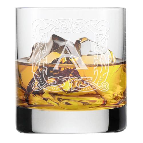 Verre à whisky initiale antiqua