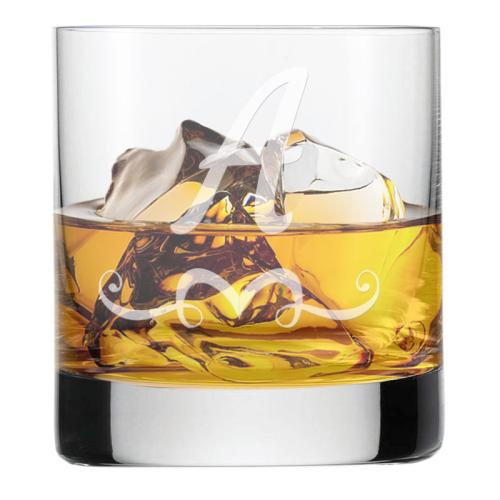 Verre à whisky initiale arabesque