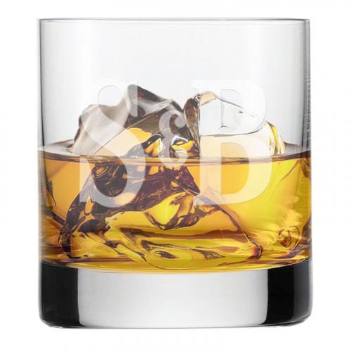Verre à whisky initiale deux lettres