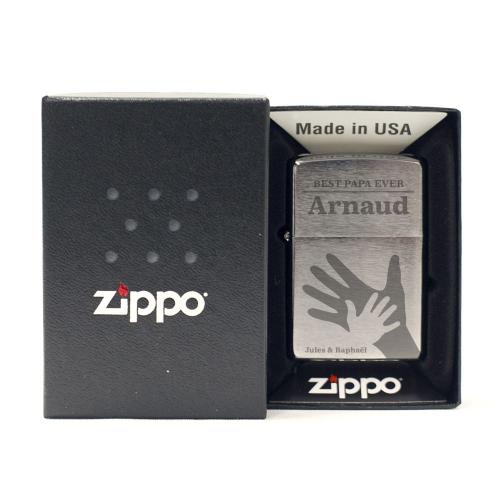 Zippo® chrome fête des pères