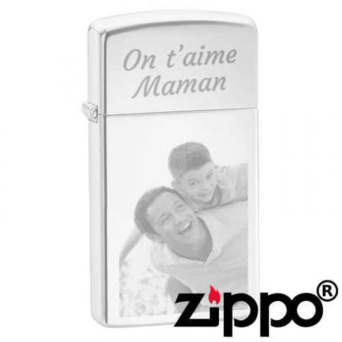 Zippo slim personnalisable