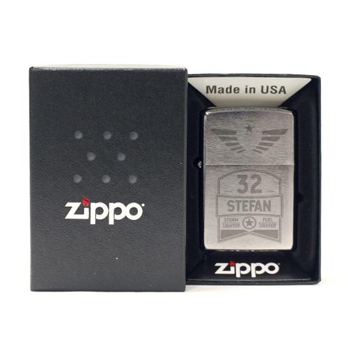 Briquet Zippo® black anniversaire gravé