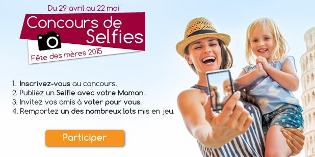 Jeu concours de Selfie fête des mères 2015