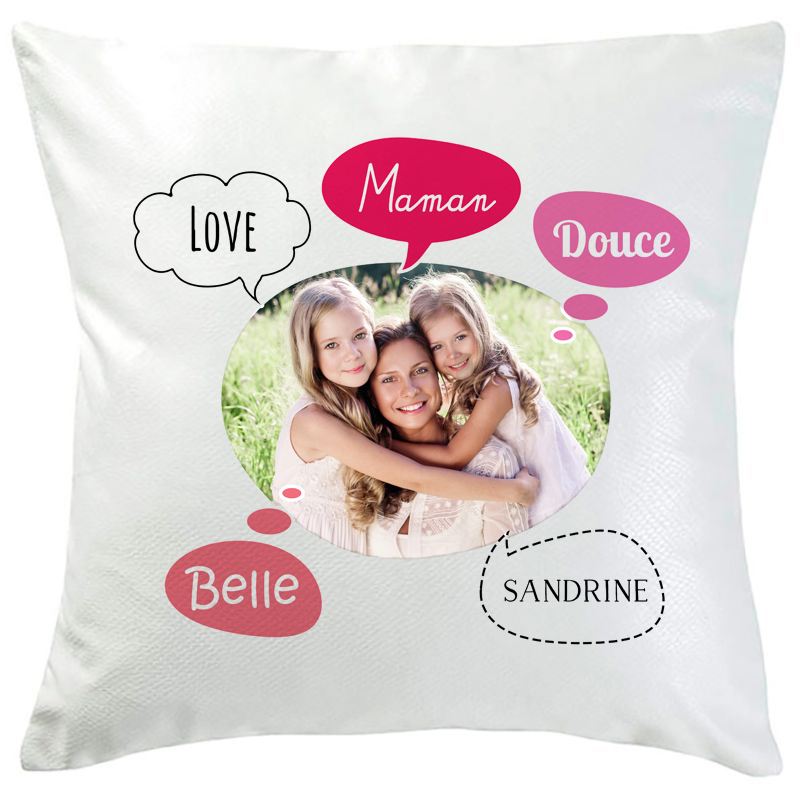 Coussin bulles personnalise