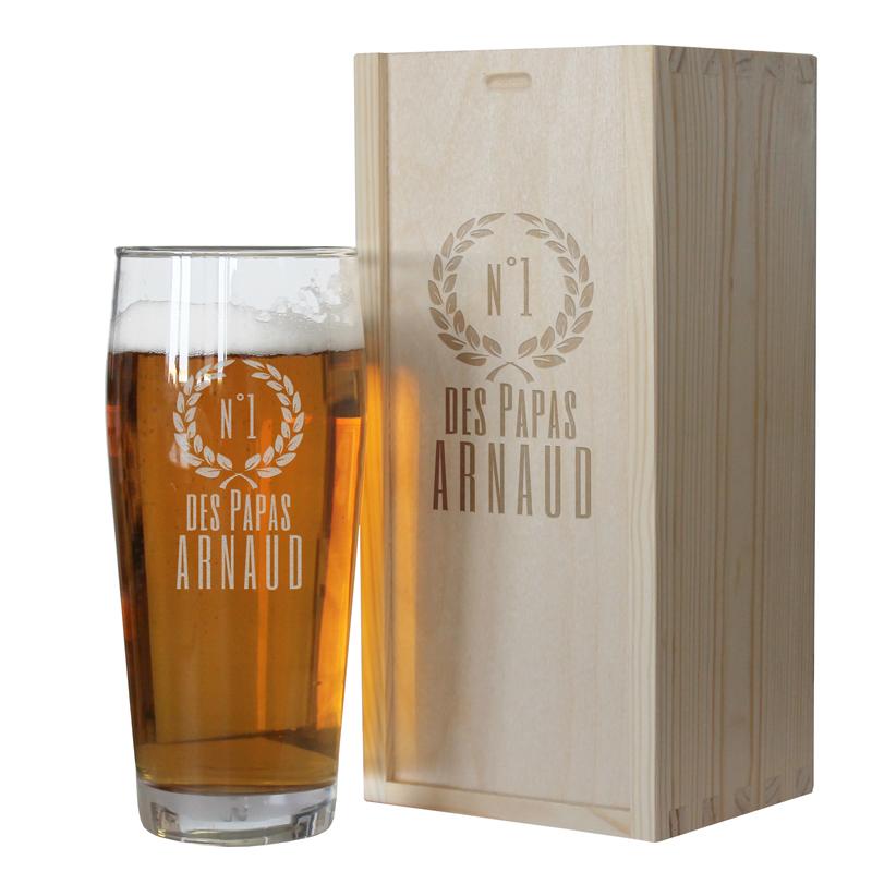 Verre à bière personnalisable