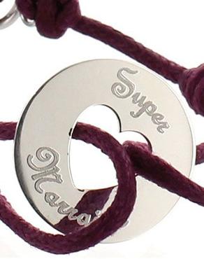 Bracelet prénom gravé en argent massif ou plaqué or