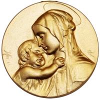 Médailles de baptême gravées
