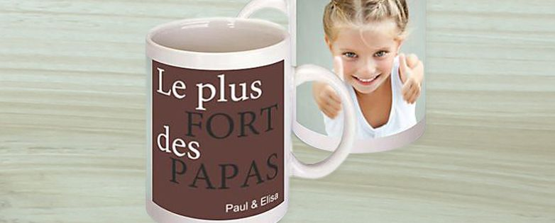 Mug fête des pères photo