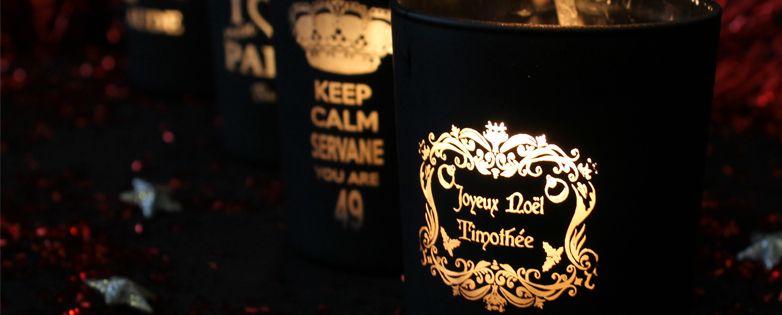 Bougies de Noël personnalisées