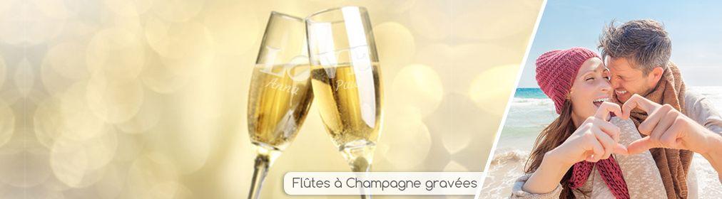Duo de flûtes à champagne personnalisées