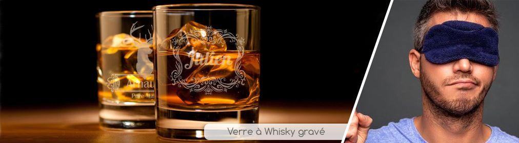 Verre à whisky gravé