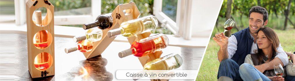 Caisse à vin convertible