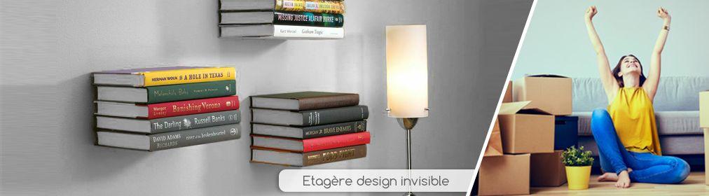 Étagère livre invisible
