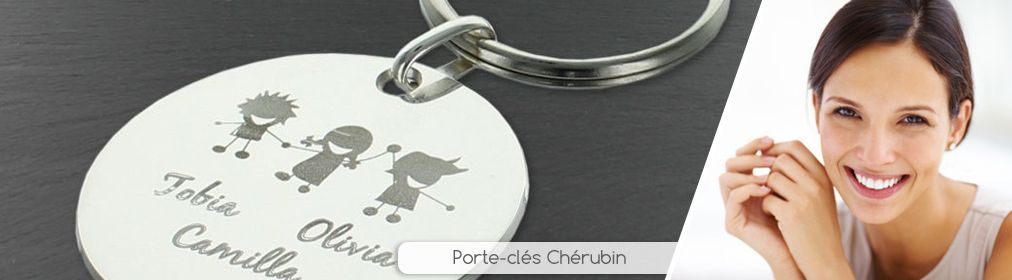 Porte-clés chérubins gravés