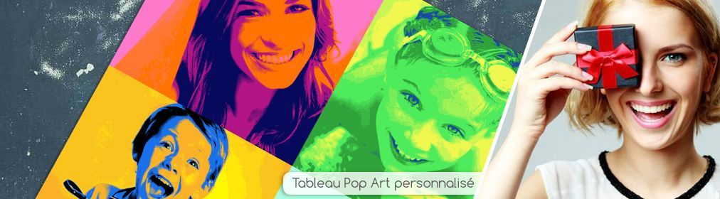 Tableau pop art carré