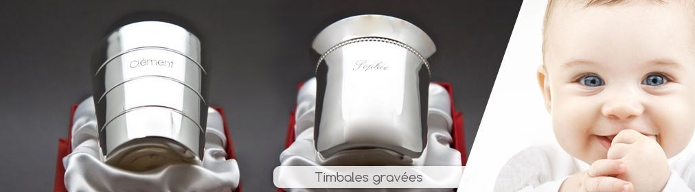 Timbales gravées