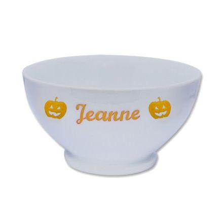 Bol D'halloween en porcelaine personnalisé