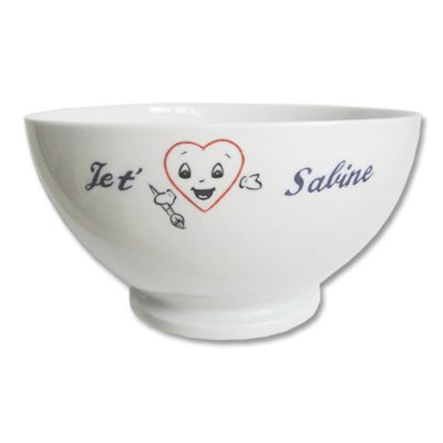 Bol saint Valentin en porcelaine personnalisé
