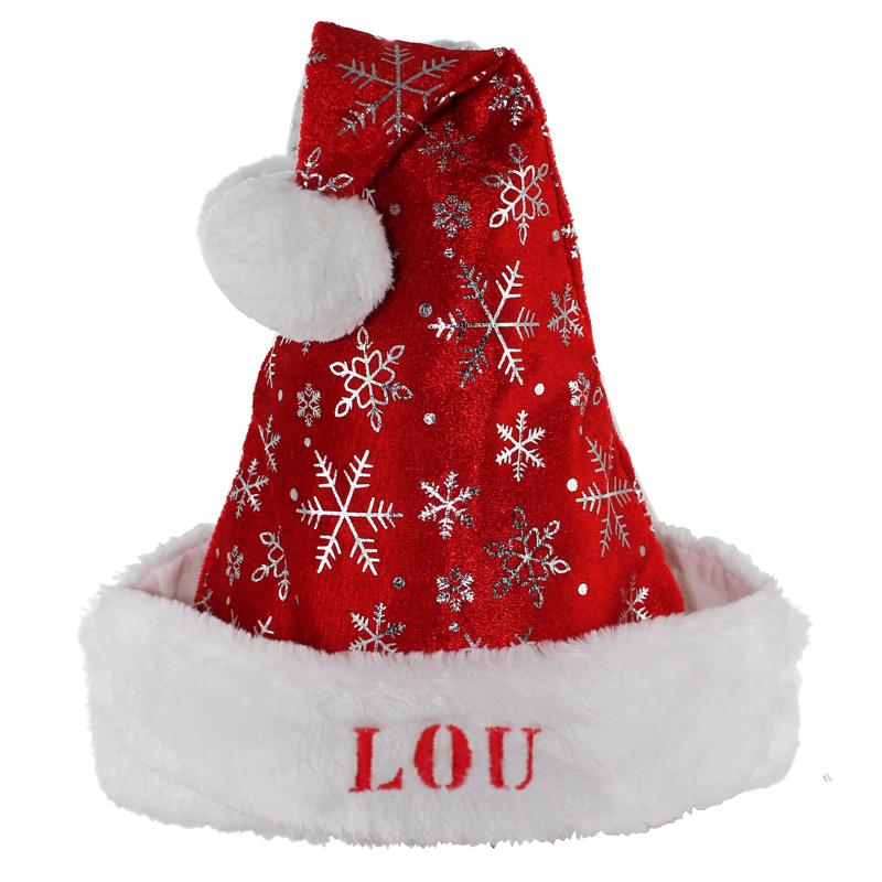 Bonnet De Noel Personnalisé Bonde Noël enfant à flocons   Bottes et bonnets de Noël   Amikado