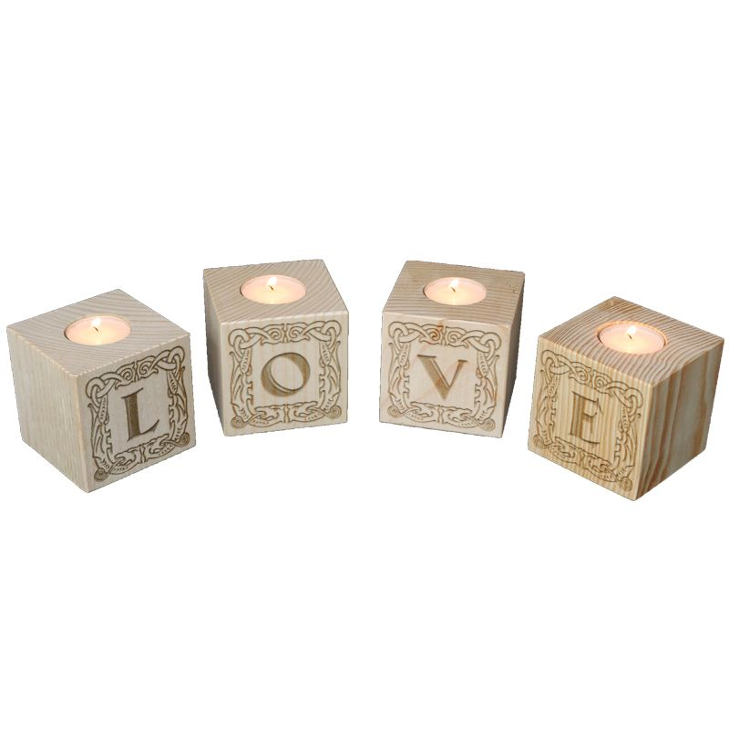 Bougeoir Cube lettres