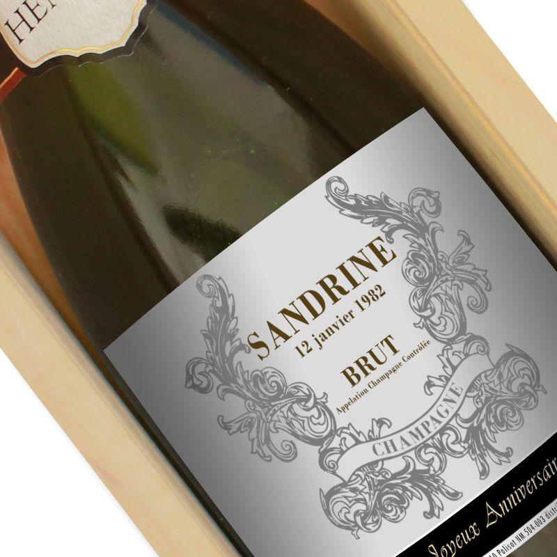 Bouteille de champagne personnalisée prénom