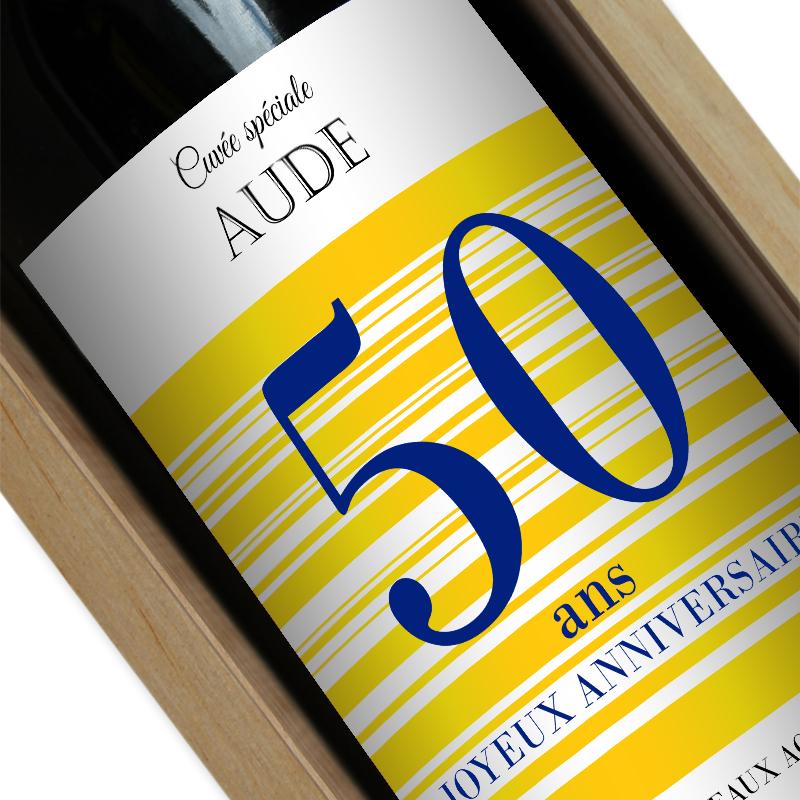 Bouteille de vin personnalisée Joyeux Anniversaire