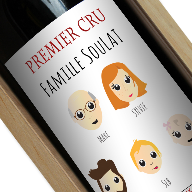 Bouteille de vin we are family