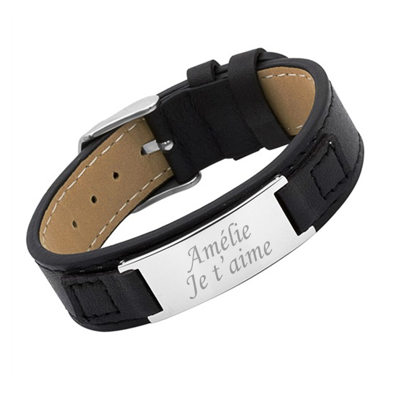 bracelet cuir femme personnalis une id e de cadeau. Black Bedroom Furniture Sets. Home Design Ideas