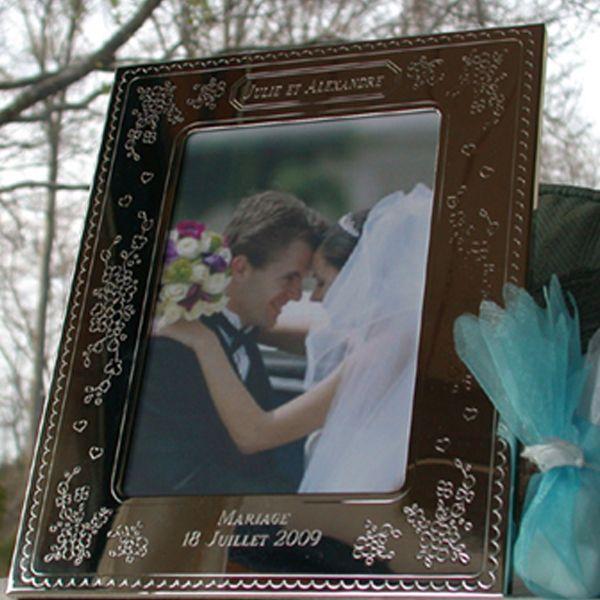 Cadre mariage et anniversaire mariage personnalis amikado - Cadre photo mariage personnalise ...