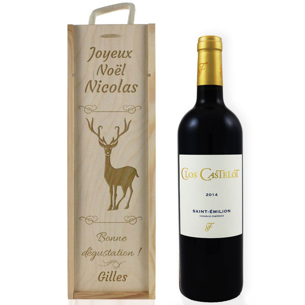 Caisse Vin De No L Grav E Une Id E De Cadeau Original