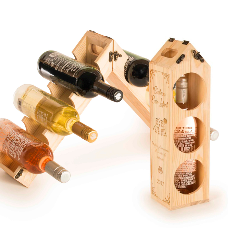 caisse vin range bouteille personnalis e une id e de cadeau original amikado. Black Bedroom Furniture Sets. Home Design Ideas