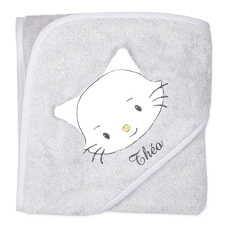 Cape de bain chaton personnalisée