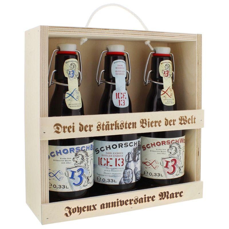 Coffret Trio de bières personnalisé