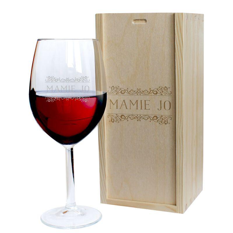Verre à vin prénom gravé