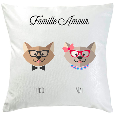 Coussin famille Zanimo