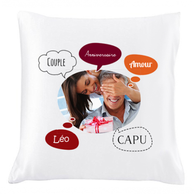 Coussin photo bulles