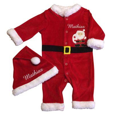 ea7f146a75ee0 Déguisement de Noël bébé personnalisé avec broderie